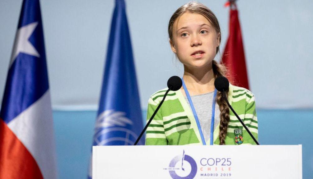 UNITED NATION CLIMATE CHANGE CONFERENCE, MADRID Greta Thunberg